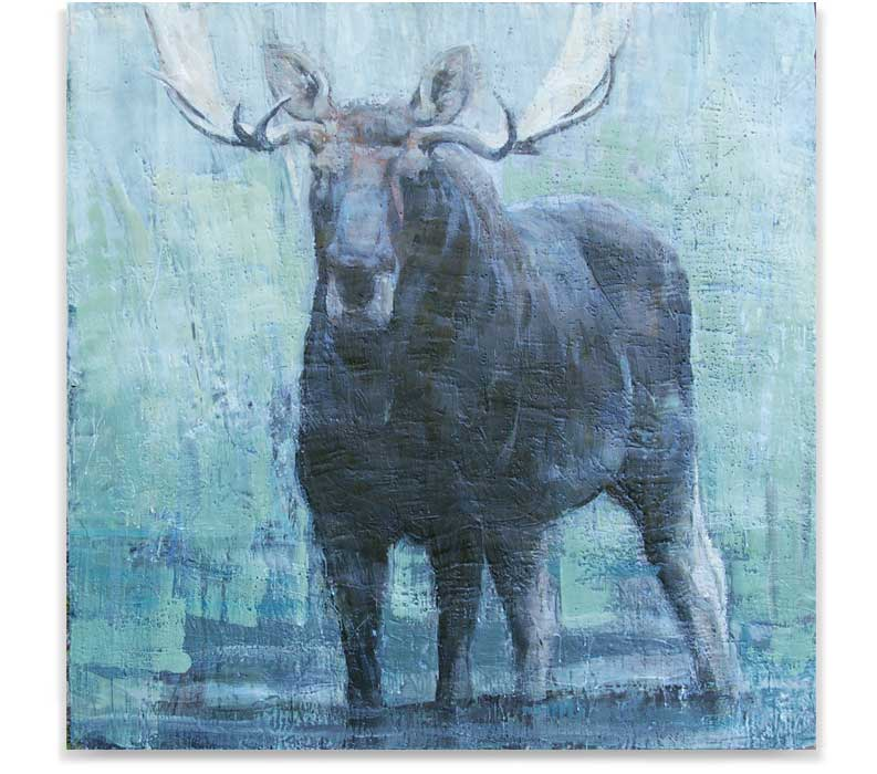 Moose_57-12, ENCAUSTIC ON PANEL, 60