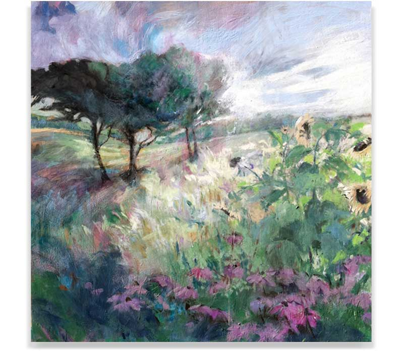 WILD GARDEN, ENCAUSTIC ON PANEL, 60