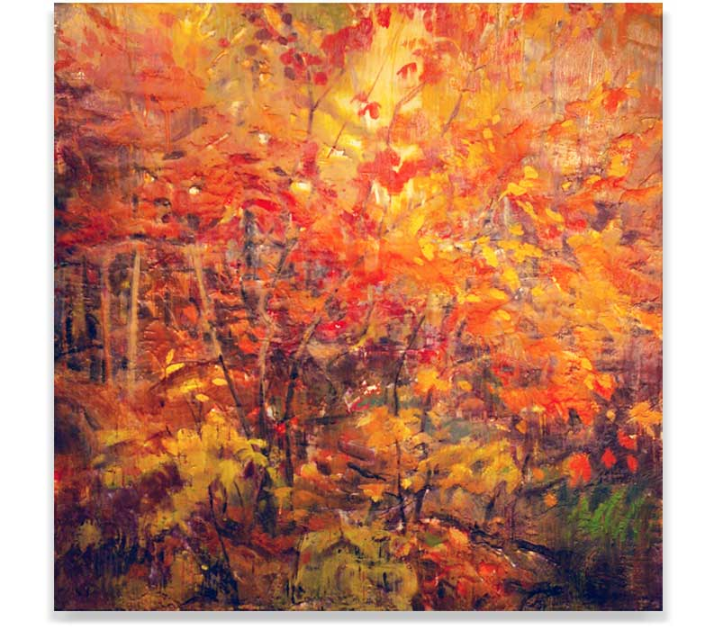 ALGONQUIN_AUTUMN, ENCAUSTIC ON PANEL, 40