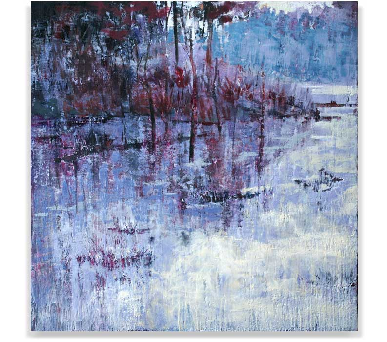WINTER BREATH, ENCAUSTIC ON PANEL, 60