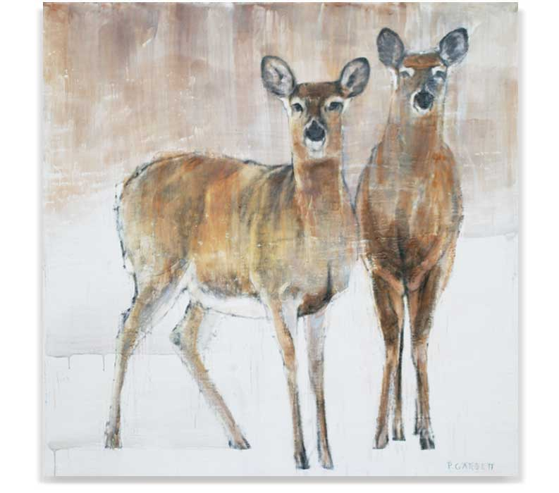 Deer 56-14, ENCAUSTIC ON PANEL, 48