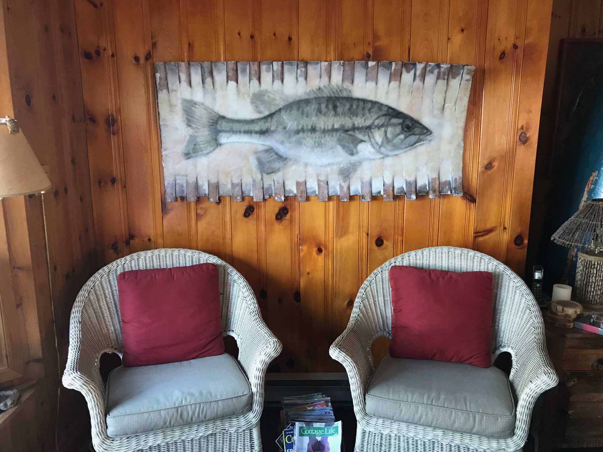 Fish in Canoe in Cottage
