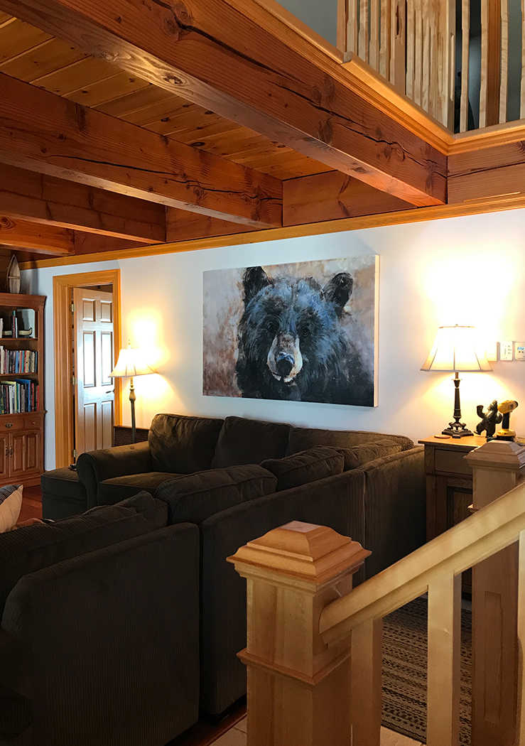 Bear Face Over Couch