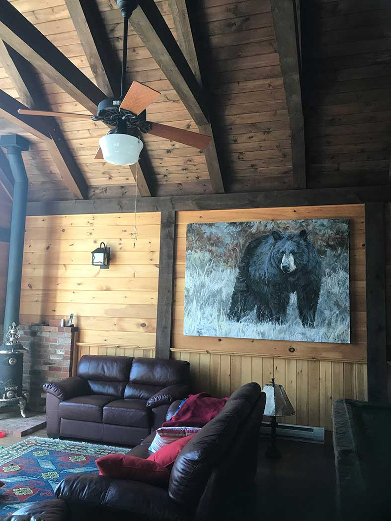 Bear in the Family Room