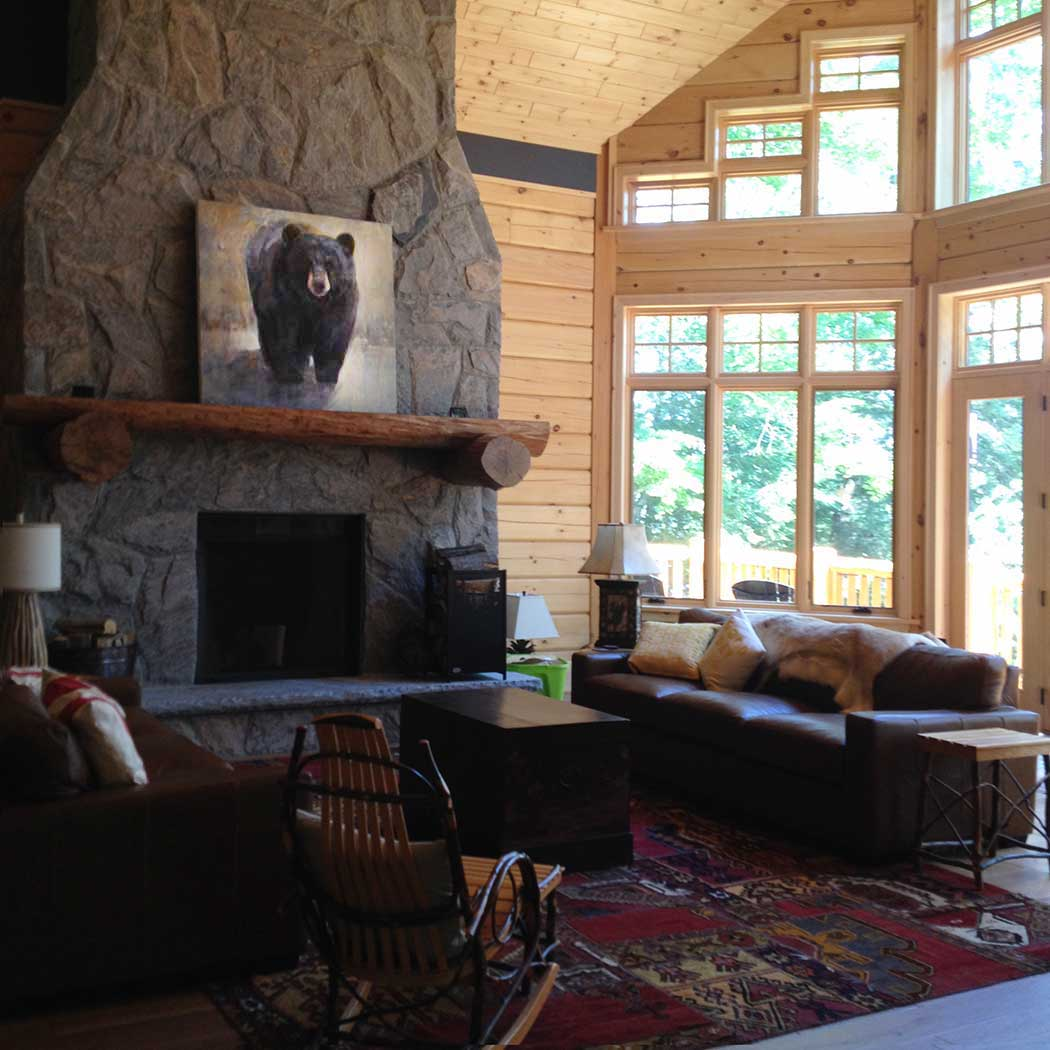Bear over Fireplace
