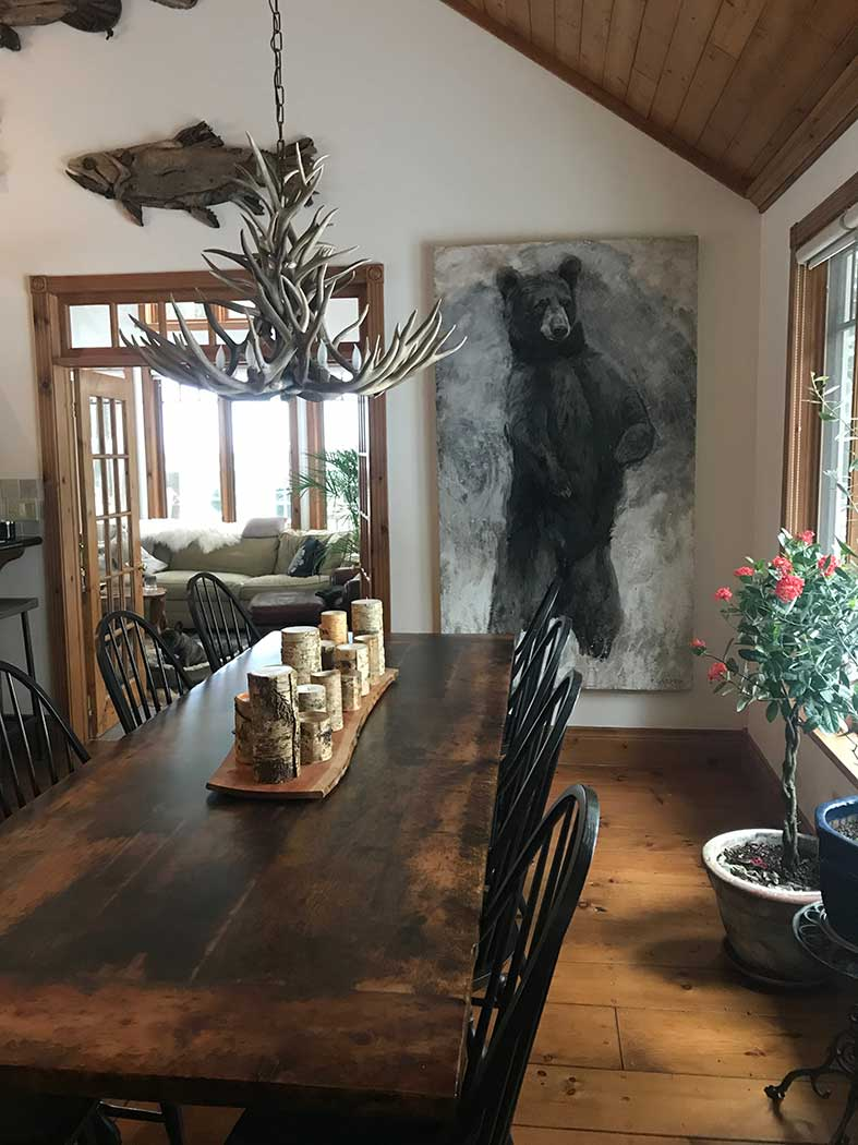 Standing Bear in Dining Room