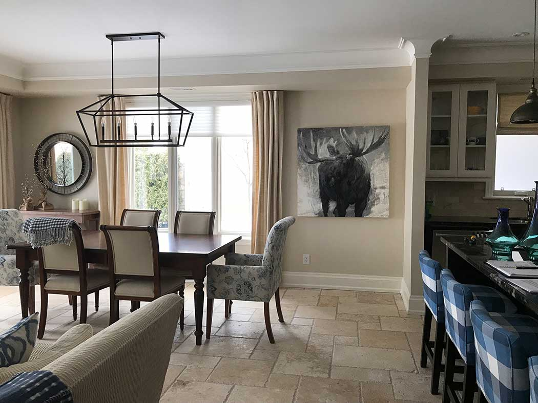 Moose in Dining Room