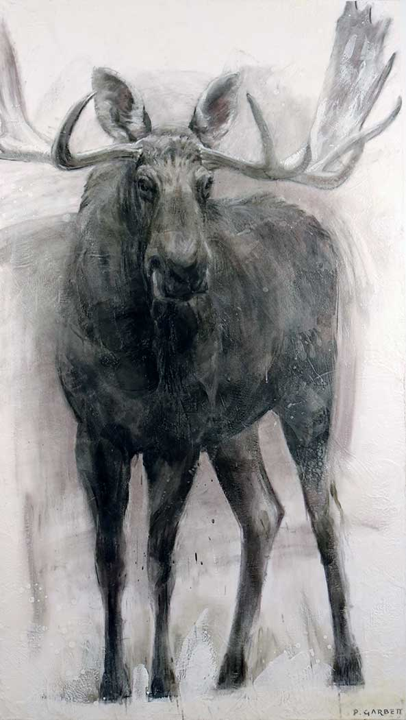 Standing Moose Limited Edition Print
